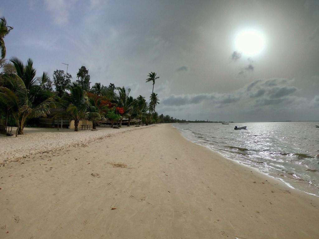 La spiaggia di Carabane al tramonto
