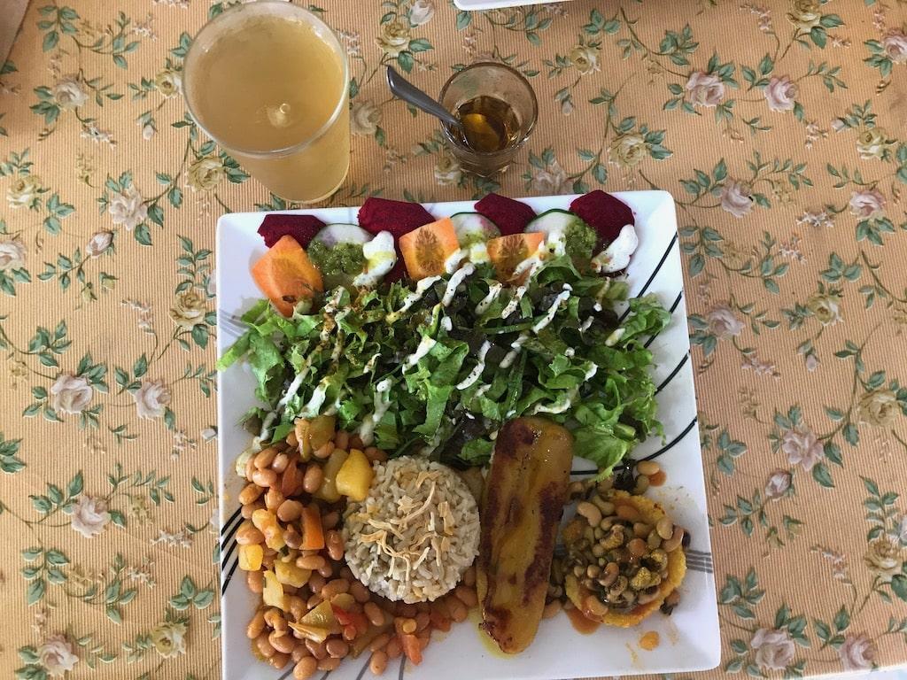 Un piatto da Siria, ristorante vegetariano ad Alter do Chao