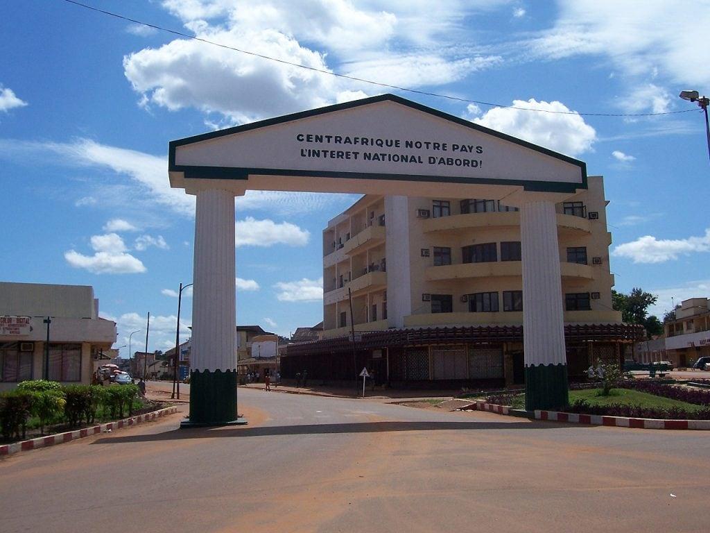 città di bangui, capitale della repubblica centrafricana