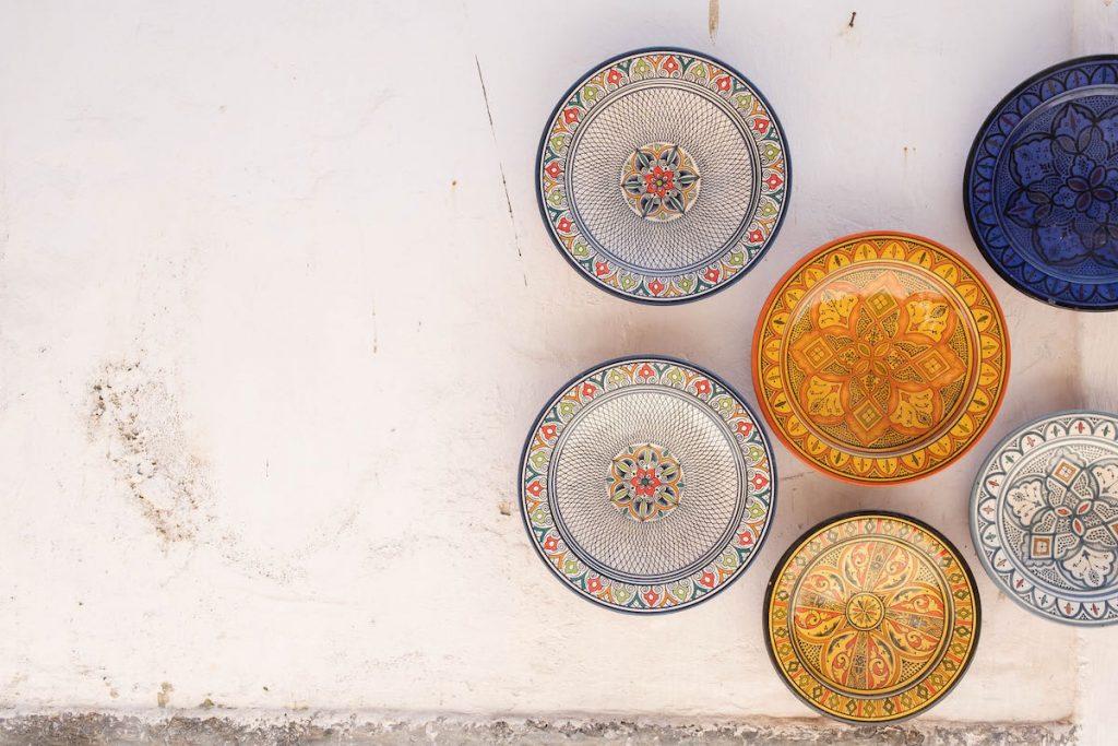 piatti di ceramica a essaouira