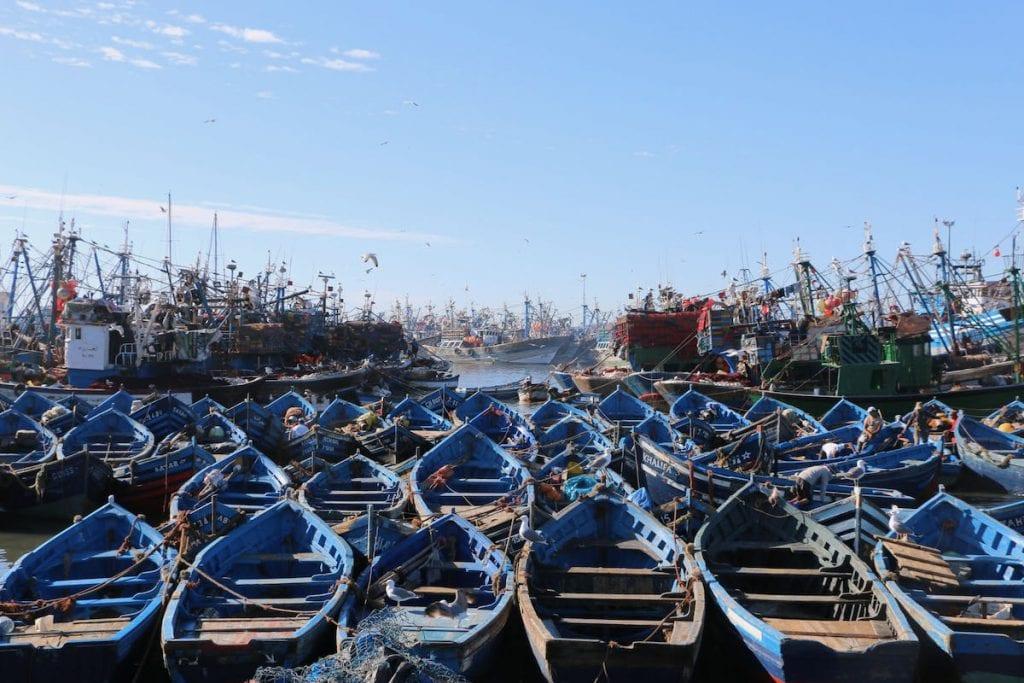 essaouira porto con barche