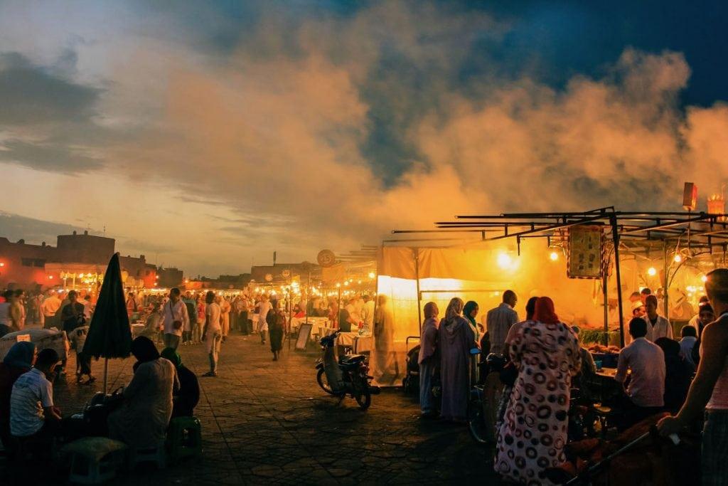 cosa fare la sera a marrakech jemaa el fna